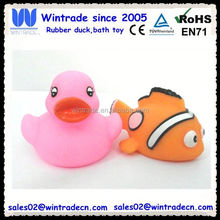 Floating duck & rubber clown fish toy