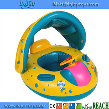 Baby Swimming Boat Float Raft Inflatable With Sunshade For Pool Summer Sea