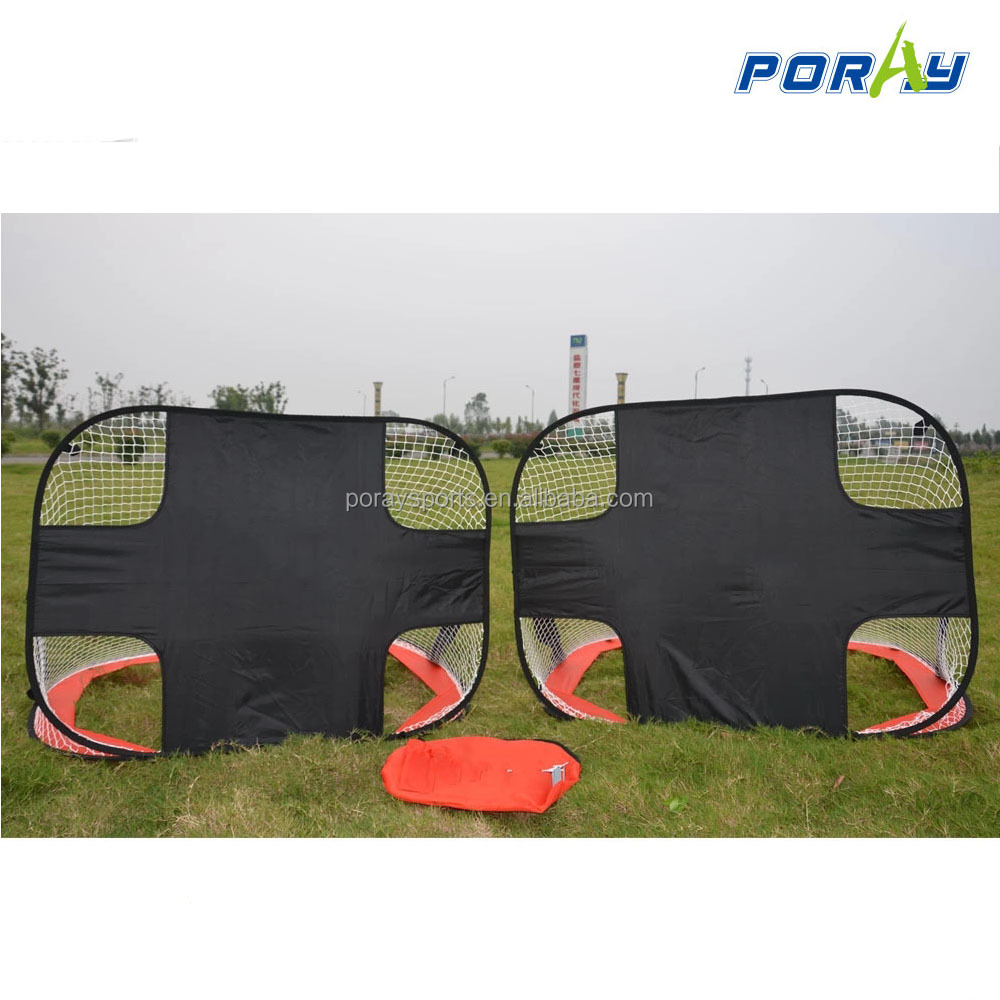children's football goal with target Multipurpose Portable pop up Soccer Nets With Carry Bag(2-Pack)