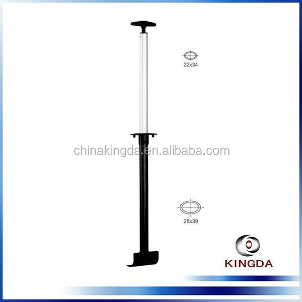 Good quality metal black telescopic external luggage trolley handle parts