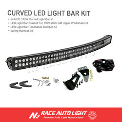 wholesale waterproof 54 inch 312w curved off road led lighting kit lifetime warranty for truck