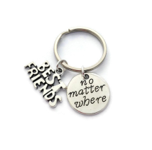 Friendship Design Keychain Pendant Best Friends Gift Keyring for Woman and Man