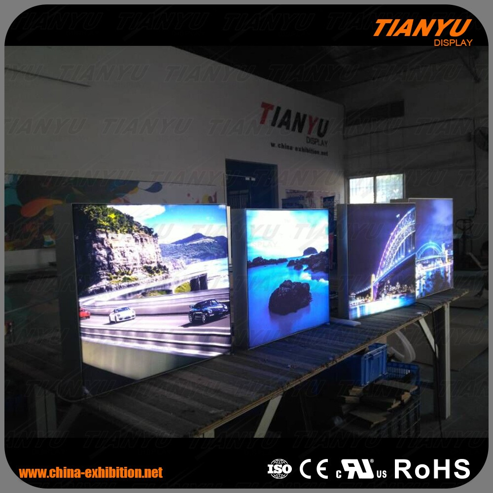 led frameless single or double indoor fabric Light Box