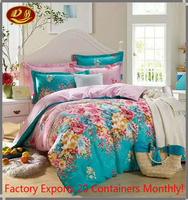 4-Pieces 100 cotton Embroidery Luury Bedding Set King Size Queen Size Bed Set Duvet Cover Bed Sheet for Peru