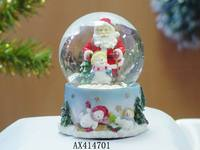 resin christman santa glass globe, gift, crafts