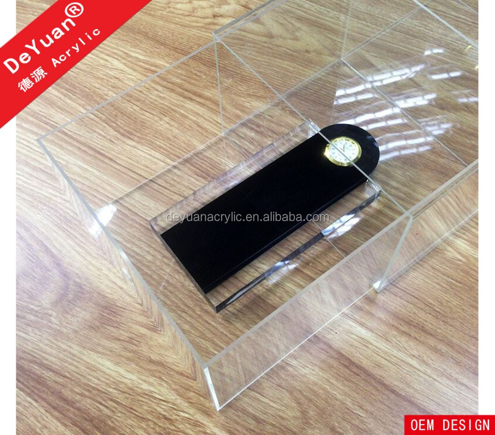 Showcase clear acrylic shoe box with logo printing