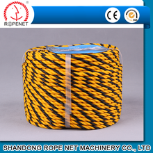 high quality 3 strands pp twisted mark rope