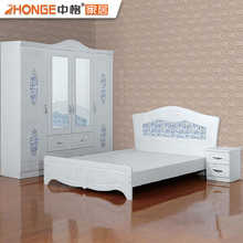 wooden bedroom set home white furniture pvc bedroom set