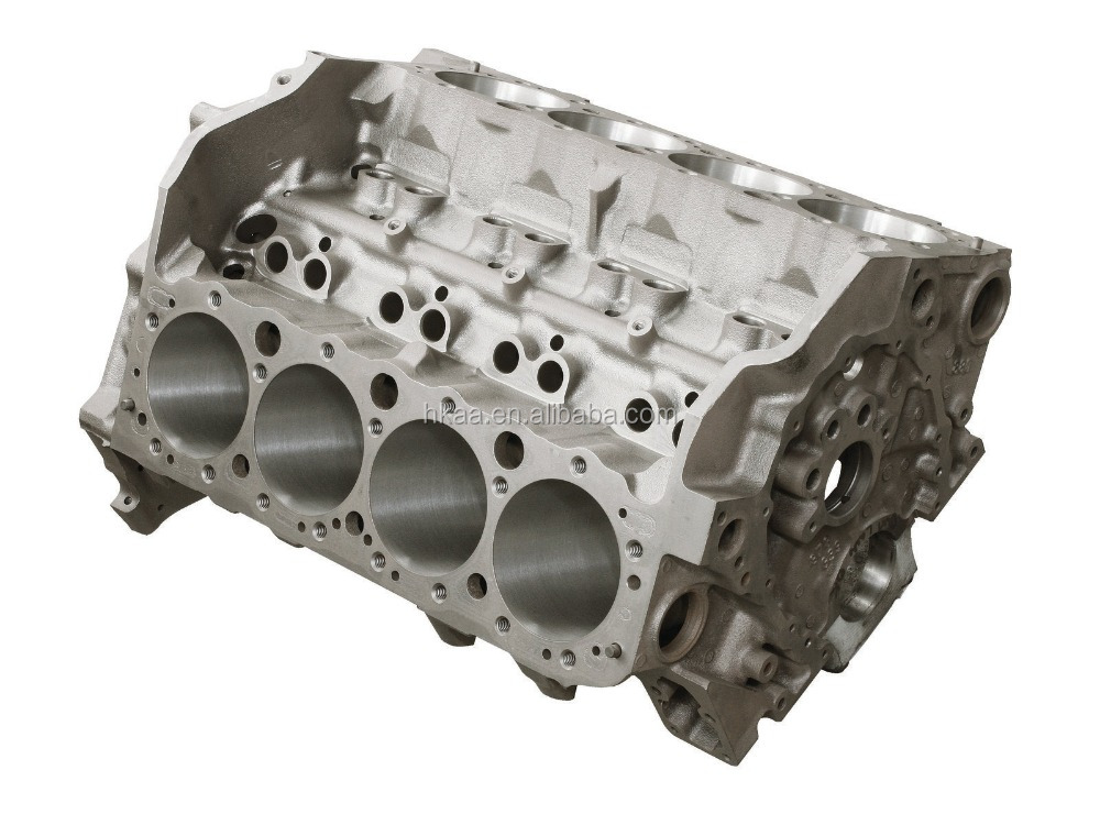 Small custom made aluminum diesel engine cylinder block