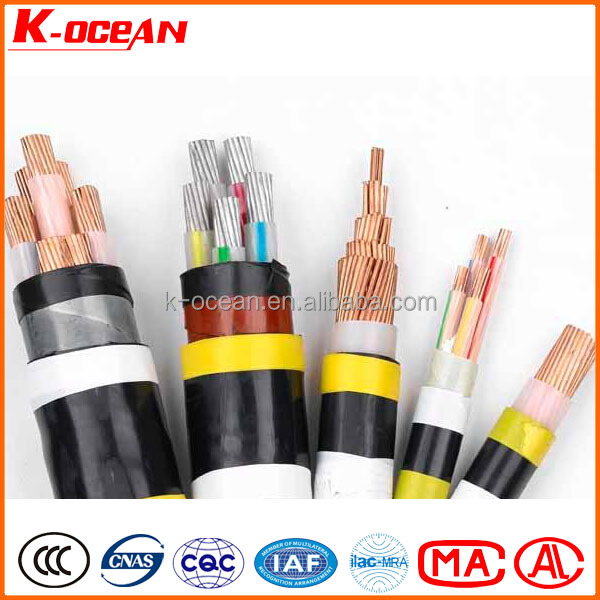 Low Voltage 5Core 185mm2 XLPE / PVC Insulated Aluminum Power Cable Price Per Meter