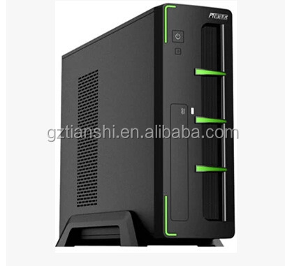 Xiao-1 green computer gaming thin mini itx case with 12cm LED color fan