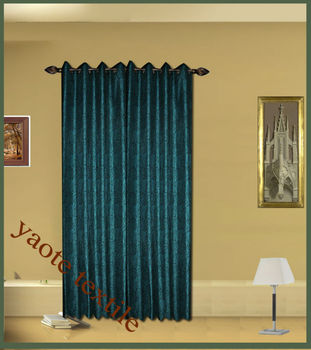 flocked design curtain mde in chinawith different colour