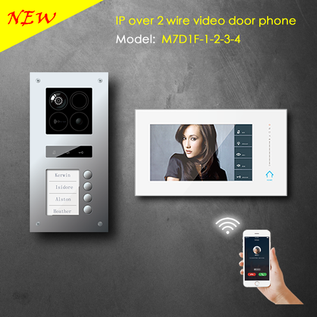 2 wire IP video intercom based on android system with wifi function for villa and apartment application / support smartphone APP