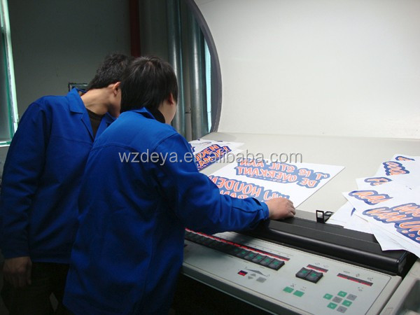 Custom Window Clings Static Decal Sticker Printing
