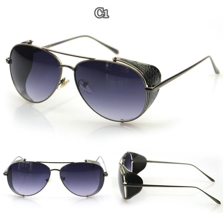 Flat Top Aviator Sunglasses  whole classic square frame plastic flat top aviator sunglasses