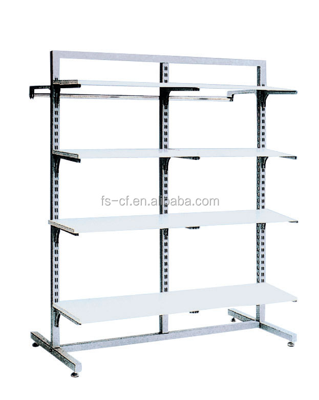 Goods metal shelf / wood iron rack / pipe series goods shelf