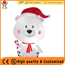 Wholesale cheap price customized mini inflatable christmas animals decorations ,4ft gemmy inflatable bear