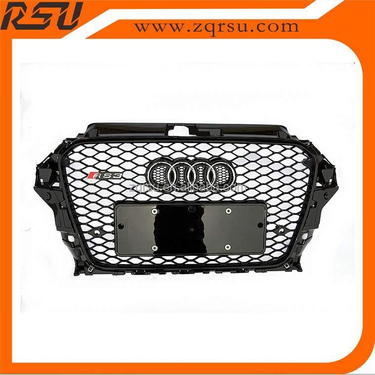 For audi A3 RS3 front grille mesh design with or w/o Quattro mark 2013-2015
