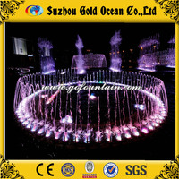 New design rotating fountain nozzles for music fountain with music and led light