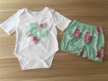 Flower Baby Girl Romper Wholesale Children Clothing USA Childrens Boutique Clothing