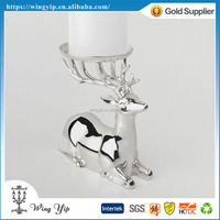 OEM and ODM good quality Reindeer Tealight Holder Silver Plated Christmax hanging for gift