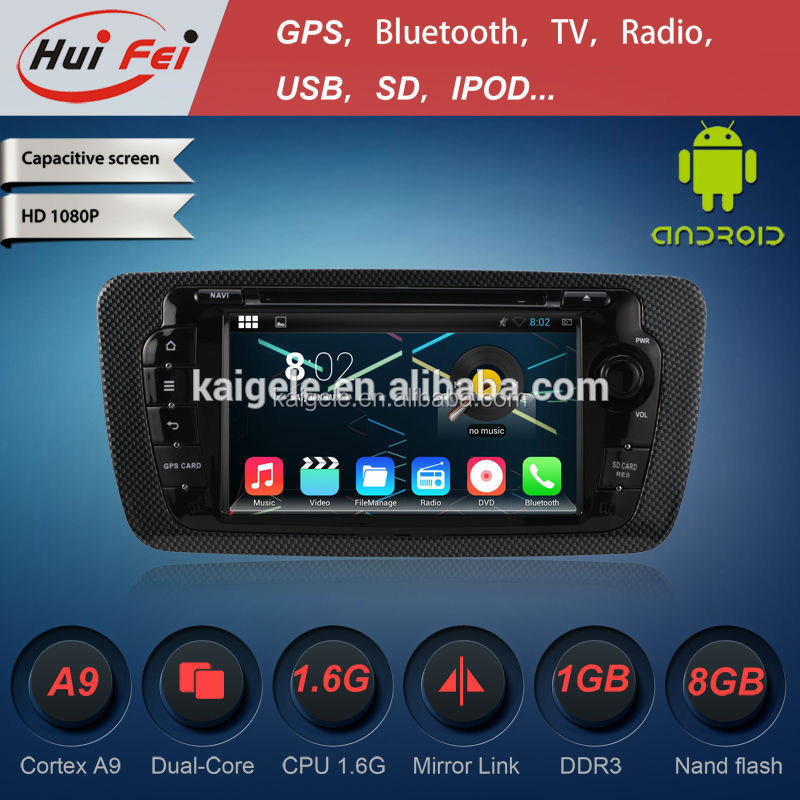 pure android car dvd player 1 Din Car Pc for seat lbiza android 4.4 car dvd with gps