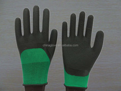 cheap cotton polyester latex coated safety glove for working