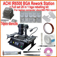 New BGA rework station infrared ACHI IR6500 motherboard repair machine + universal bga stencils kit reballing base
