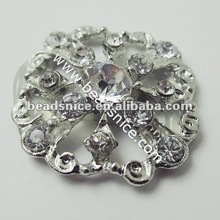 Wholesale easy in Fushcia Color faceted crystal button