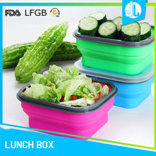 New design healthy waterproof rubber lunch boxes