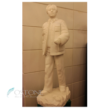 Vivid Pure White Marble Famous Chinese Chair Mao Sculptures For Sale