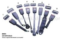 seat belt various long-foot seat belt buckle with E4 certificate,car safety seat belts component,safety buckle