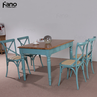 distressed oak wooden dining tables and chairs for restaurant