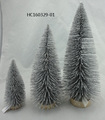 White Fiber Optical indoor Christmas Tree decoration 3/set