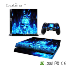 Factory cheap price custom games decal sticker for Playstation 4 Console