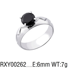 RXY00262 new design men and ladies fancy black large cubic zircon stone rings