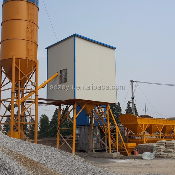 hzs25m3/h concrete batching plant process flow