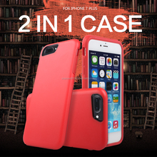 New Arrival High quality Colorful PC+TPU two in one case compatible for iphone 6 Plus and iphone 7 Plus