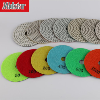 Diamond polishing pad for marble stone floor