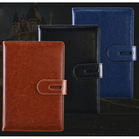 Classic Black Custom Hardcover Pu Leather
