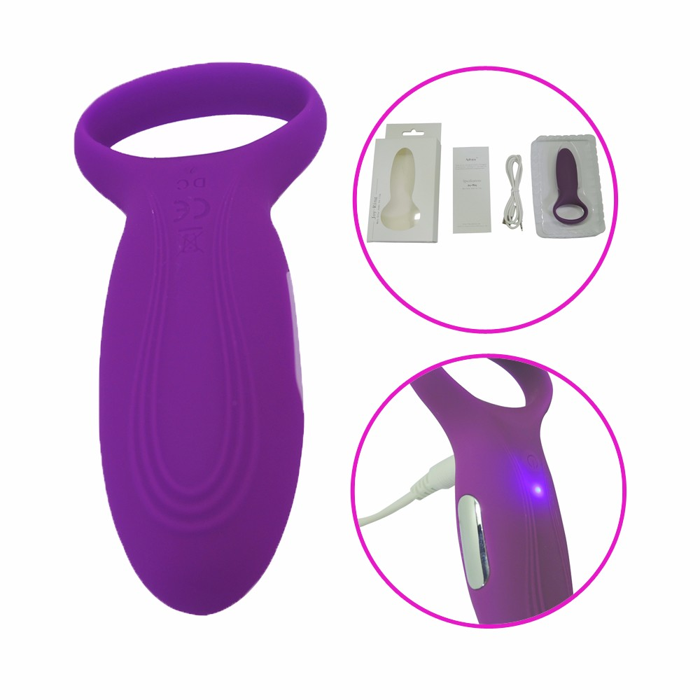 Purple Dildo Multispeed G-spot Waterproof Silicone Cock Ring Vibrator Massager Men Adult Sex Toy