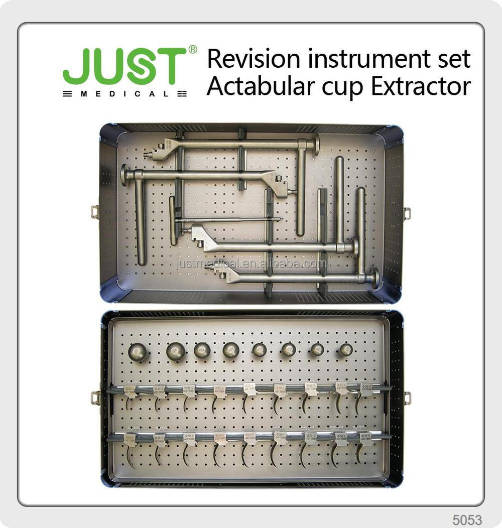 JUST Revision THA Instrument Set Acetabular cup removal modular bipolar hip prosthesis