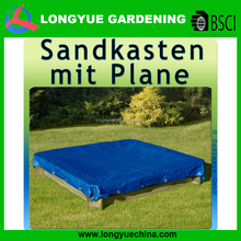 folding PE square plant protection cover greenhouse blue color