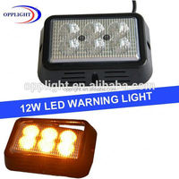 Warning lightbars 18w led car strobe light kit 12v yellow flashing emergency strobe lights for vehicles
