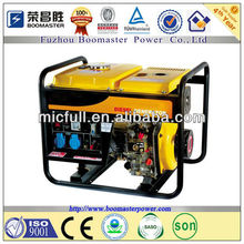 2KW Portable diesel generator with 2 wheels and handles