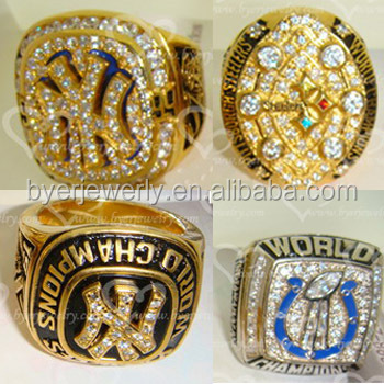 jewelry gold plated replica sports championship rings wholesale