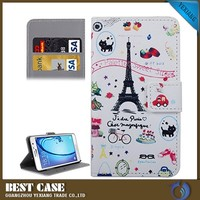 new fashion flip pu leather stand card holder case for samsung galaxy on7 cover