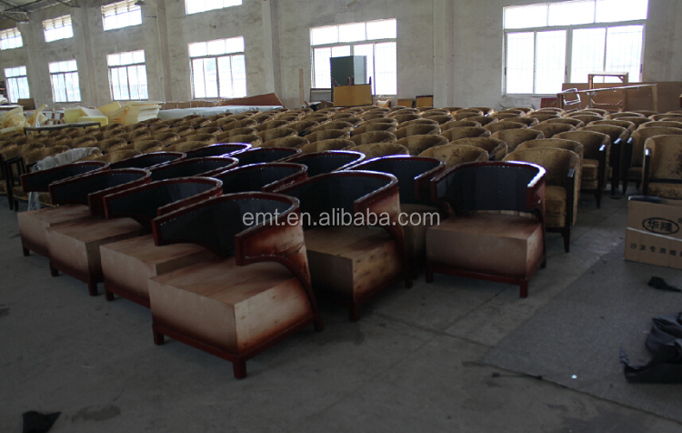 Fashion modern hotel furniture manufacturers burma teak wood furniture (EMT-SHL85)