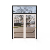 2 track fancy wood door design aluminum model iron sliding door