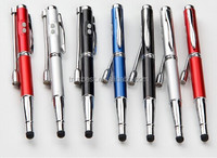 5 In 1 Promotional Multi-function Metal Ball Pen With Laser Pointer+LED Light+UV light+ Stylus Touch Pen